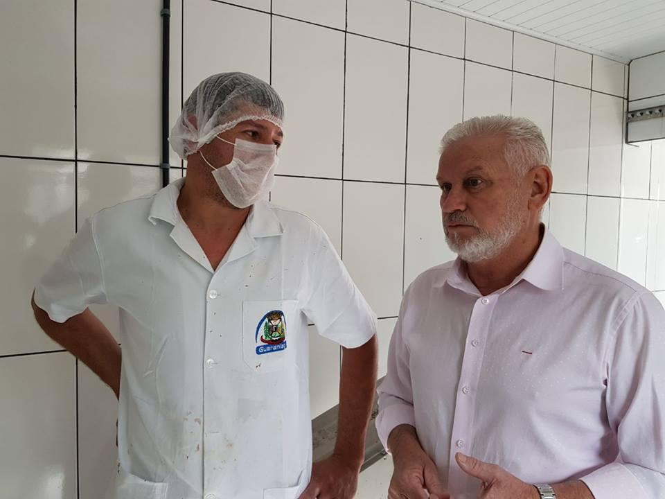Prefeito Osmario Portela reinaugura Abatedouro Municipal de Frango Colonial em Guaraniaçu